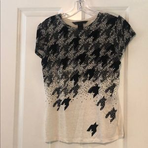Marc by Marc Jacobs felt and linen tee